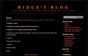 Ridge Blog