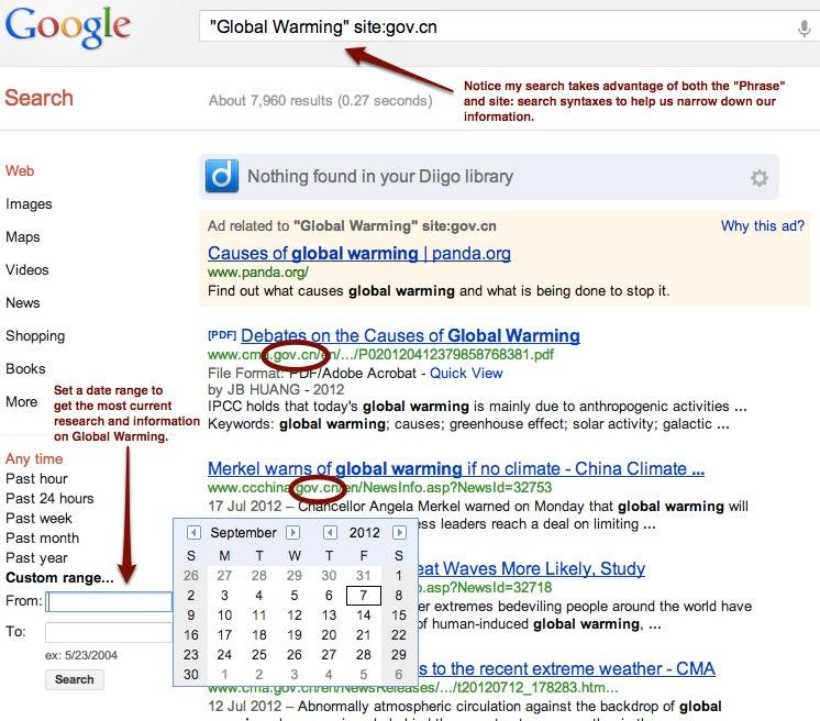 Global Warming Search