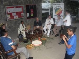 Traditional Ethiopian coffee ceramony