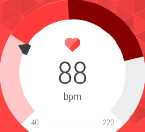 Monitoring my heart rate after a workout.