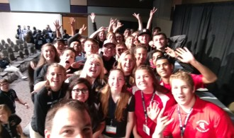 Selfie with students after Keynote