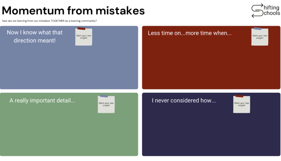 Creating Momentum From Mistakes